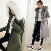 軍裝外套-長版時尚簡約修身女連帽夾克3色73it80[時尚巴黎]