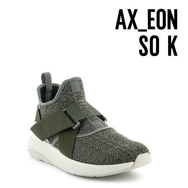 【南紡購物中心】【PALLADIUM】AX_EON LACK K 繃帶襪套式休閒鞋 / 綠 女鞋