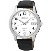 【僾瑪精品】SEIKO 精工 簡約時尚大三針錶-銀x黑/7N42-0GE0C(SGEH69P1)