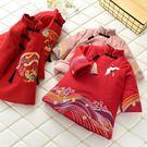 *╮S13小衣衫╭*新年兒童新衣唐裝八分袖棉襖棉服洋裝1071204