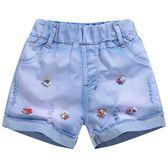 海灘褲 沙灘褲兒童牛仔短褲女童薄款熱褲子夏季新款中大童裝三分褲小女孩沙灘褲三角衣櫥