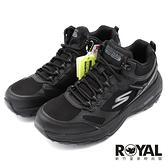 Skechers Go Trail 全黑 皮革 防潑水鞋面 慢跑鞋 女款 NO.J1048【新竹皇家 128206BBK】