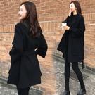西裝外套 秋冬新款黑色雙面羊絨呢子大衣女小個子毛呢外套短款-Ballet朵朵