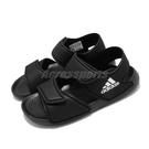 adidas 涼鞋 AltaSwim C 黑 白 童鞋 中童鞋 涼拖鞋 魔鬼氈 【ACS】 EG2134