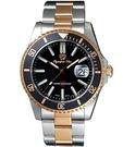 Olympianus 夜光潛水造型腕錶-黑面/半金 A89983.Q1SR