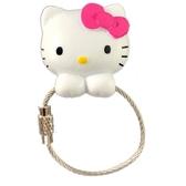 小禮堂 Hello Kitty 磁吸式鑰匙圈 吊飾 掛飾 吸鐵 鑰匙收納 (粉白 大臉) 4991567-26700