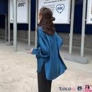 熱賣垂感襯衫 2021春裝新款寬鬆襯衫女設計感小眾上衣復古港味垂感緞面雪紡襯衣 coco