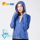 UV100 防曬 抗UV-涼感經典連帽口...