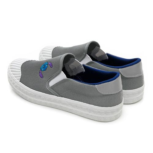 Disney 俏皮精靈 史迪奇帆布餅乾鞋-灰