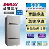 留言加碼折扣享《台灣三洋 SANLUX》 528公升 一級變頻 鏡面鋼板 三門電冰箱 SR-C528CV1A