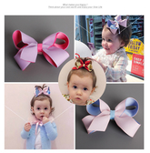 髮夾 寶寶 兒童 立體 蝴蝶結 粉嫩 髮飾 BW