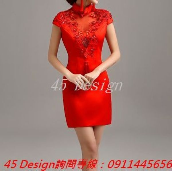 (45 Design) 訂做款式7天到貨 專業訂製款 大尺碼 定做顏色  旗袍禮服小禮服 婚禮伴娘 模特 走秀