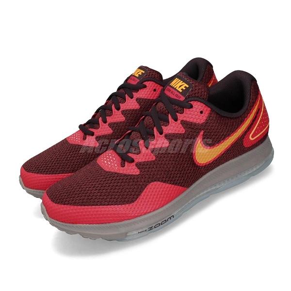 Nike 慢跑鞋 Zoom All Out Low 2 棕色 橘 紅 男鞋 運動鞋 【PUMP306】 AJ0035-600