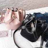 潮水桶包女斜挎包韓版簡約百搭側背小包包  黛尼時尚精品