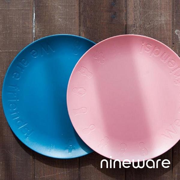 韓國nineware 好友派對盤兩件組-藍粉