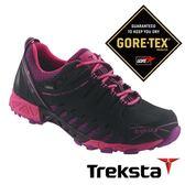 Treksta ADT 101 女 Gore-Tex SURROUND 防水低筒登山鞋 (腳底透氣技術 / 抗菌鞋墊) 桃紅|短筒健行鞋 KR16HW