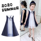 女童夏季洋裝2021新款韓版洋氣小女孩蓬蓬紗裙夏裝兒童公主裙子 幸福第一站