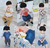 夏季裝韓版短袖上衣中小兒童男孩寶寶薄款T恤衫 奇思妙想屋