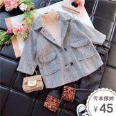 女童呢子大衣新款帥寶寶潮童裝韓版時尚兒童秋裝洋氣毛呢外套