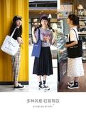 帆布包 手提袋女帆布單肩ins韓版學生簡約帆布包原宿ulzzang大容量購物袋 雙11狂歡