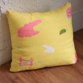 抱枕 [動物樂園-黃] ;南亞彈性纖維;ikea辦公室客廳沙發靠墊 ; 翔仔居家台灣製