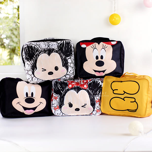 迪士尼拉鍊旅行收納包 米奇米妮 化妝包 行李箱收納袋 化妝品盥洗包 洗漱包 沐浴包