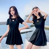 泳衣女遮肚顯瘦2019新款網紅款連身保守沙灘裙大碼學生韓國ins風 喵小姐