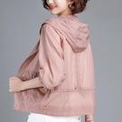春季薄款短外套中年媽媽防曬衣女2021新韓版夏防曬服大碼寬鬆外套
