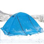 帳篷戶外2人 冬季野營露營3-4人雙層單人防風防暴雨雙人野外帳篷   初見居家