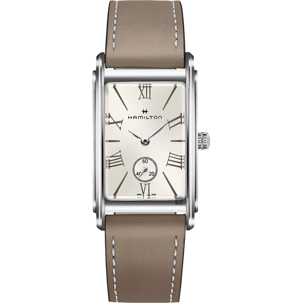 我們與惡的距離 Hamilton 漢米爾頓 美國經典石英女錶-銀x駝色/23.4mm H11421514
