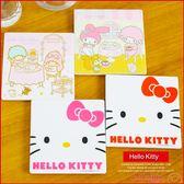 《售完》Hello Kitty 凱蒂貓 美樂蒂 雙子星 陶瓷吸水杯墊 居家小物 B23792