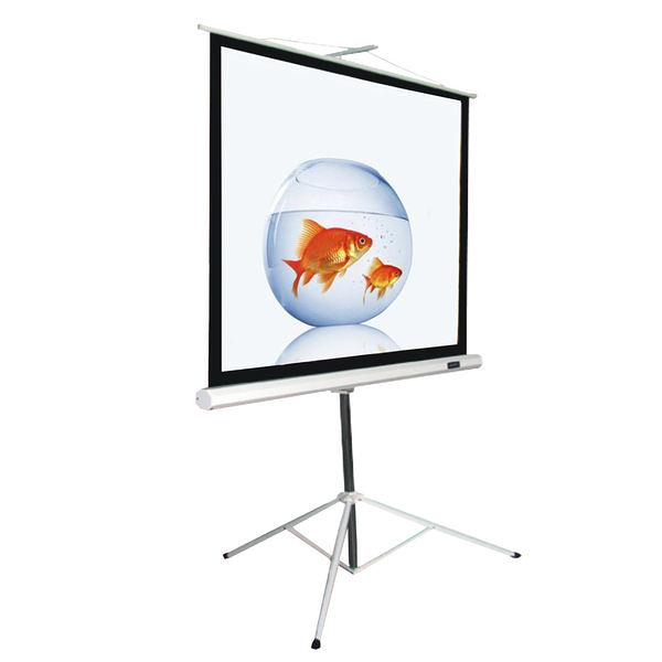 [卡瑪斯投影機銀幕] 98吋三腳支架投影布幕 184 cm ×186cm  移動式席白投影幕 一年原廠保固 含稅含運
