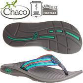 Chaco ETW01_HD54薄荷自在 女戶外運動拖鞋/夾腳拖