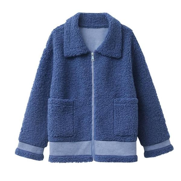 羊羔毛外套女秋冬 新款小個子時尚上衣百搭皮毛一體加厚大衣 優拓