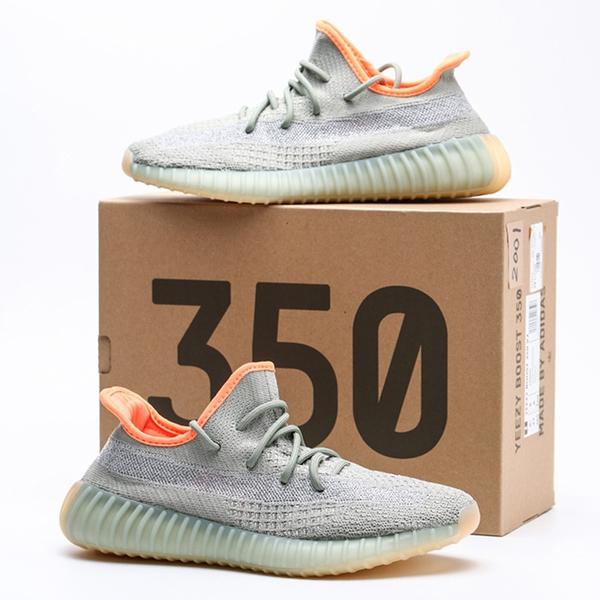 ADIDAS YEEZY BOOST 350 V2 DESERT SAGE 灰 綠 橘 休閒鞋 男 (布魯克林) FX9035