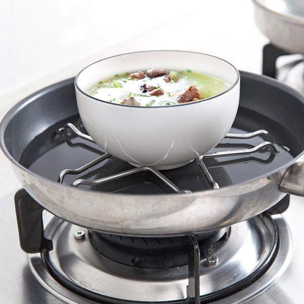 [超豐國際]不銹鋼五角形隔水蒸架隔熱瀝水架子 家用廚房蒸鍋蒸菜支