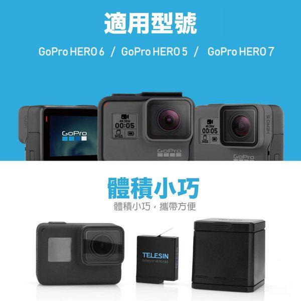 【建軍電器】Gopro Hero 5 6 7 收納盒 收納 2電池一個充電器 充電座 電池 Telesin 副廠 附充電線