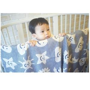 瑞典Klippan舒柔純棉冷氣毯--小宇宙(藍)