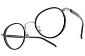 NINE ACCORD 光學眼鏡 PLACO CIARA C2 (黑-槍) 韓系率性圓框款 平光鏡框 # 金橘眼鏡