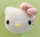 【震撼精品百貨】凱蒂貓_Hello Kitty~日本SANRIO三麗鷗 KITTY 絨毛造型安全別針-白大頭#50410