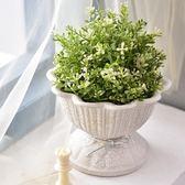春季上新 創意簡約陶瓷花盆中號室內盆栽花盆綠蘿陶瓷歐式多肉花盆有孔盆景