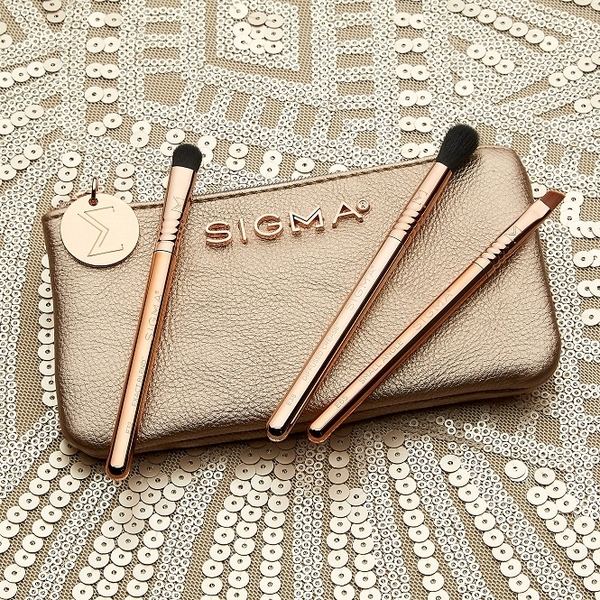 SIGMA PETITE PERFECTION BRUSH SET 玫瑰金迷你眼部刷具組