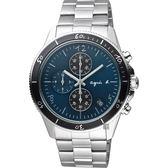 agnes b. 巴黎限定計時手錶-綠x銀/43mm VK67-KXB0G(B7A005X1)