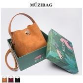 水桶包 MUZI定制包包女夏季新款韓版百搭時尚簡約鎖扣側背斜背水桶包 星河光年