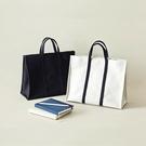 商務包韓國簡約商務公事包女帆布手提檔包百搭休閒學生布書包a4檔袋 夏季新品