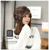 帽子女春秋薄款套頭帽時尚韓版包頭帽透氣蕾絲化療休閒月子帽潮帽