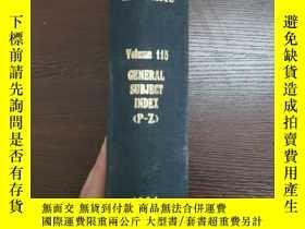 二手書博民逛書店CHEMICAL罕見ABSTRACTS Vol.115 GENERAL SUBJECT INDEX(P-Z)Y