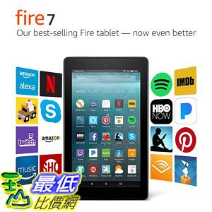 [107美國直購] 平板電腦 Fire 7 Tablet with Alexa, 7吋 Display, 8 GB, Black - with Special Offers