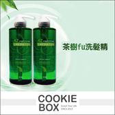 AZ 茶樹fu 洗髮精洗髮乳頭皮清潔舒緩清爽清新油性 沙龍 500ml 餅乾盒子