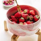 可愛水果沙拉碗家用創意陶瓷泡面碗 全館免運